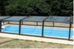 Abri piscine semi-haut