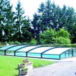 Abri piscine télescopique bas ARTECH MINEO 3