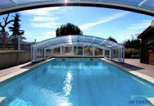 Abri de piscine télescopique mi-haut ARTECH MEDYO