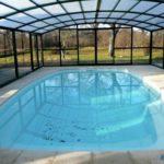 Abri pour piscine fixe haut ARTECH MAXEO vue de l interieur