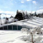 Abri piscine telescopique bas Artech hiver