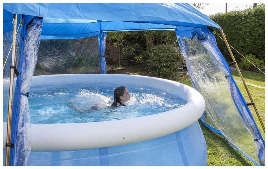 dome pour piscine hors sol l abri de. Black Bedroom Furniture Sets. Home Design Ideas