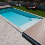 Terrasse mobile Deckwell ouverte