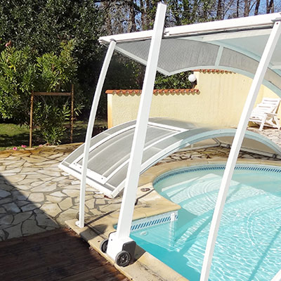 Moteur abri piscine relevable lift up