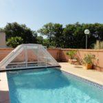 Version medium de l'abri piscine London de Bel Abri