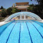 Abri piscine Roma de Bel Abri - replié